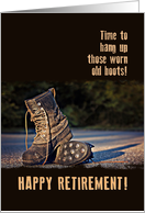 Worn Work Boots - Retirement card