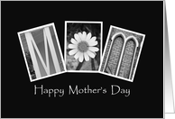 Mom - Happy Mother's Day - Alphabet Art card