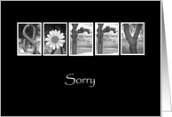Sorry - Alphabet Art card