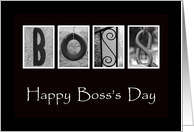 Boss's Day - Alphabet Art card