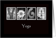 Yoga - Alphabet Art card