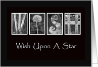 Wish Upon A Star - Good Luck - Alphabet Art card