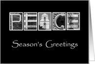 Peace - Season's Greetings - Alphabet Art card