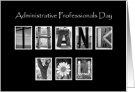 Administrative Professionals Day - Thank You - Alphabet Art card