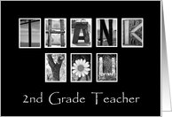 2nd Grade Teacher - Thank You - Alphabet Art card
