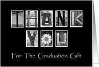 Graduation Thank You - Alphabet Art card