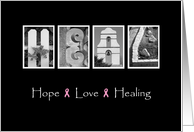 Recovery from Cancer - Hope Love Healing - Alphabet Art card