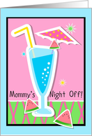 Mommy's night off invitation to party! card