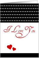 Valentine's Day Marry Me, I Love You, period, with hearts! card