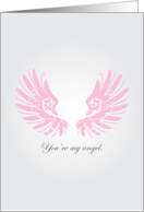 Christmas Angel � Wings � Romantic/Loving Card. card