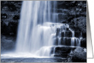 Blue tone dreamy waterfall - Uldale Force Cumbria blank inside card