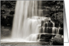 Happy Birthday, Sepia Tone Waterfall, Uldale Force Cumbria card