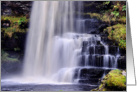 Happy Birthday, Waterfall, colour, Uldale Force Cumbria card