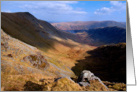 The Lake District, Cumbria, Riggindale - Blank for your own message card