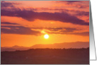 Orange sunset near Kendal, Cumbria - Blank card