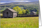 Summer Meadow, Wharfedale, The Yorkshire Dales - Customizable card