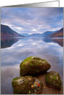 Tranquil Lake scene - The Lake District - Blank card