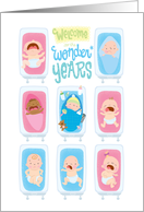 New Parents Welcome to the wonderful world of parenthood! Babies card