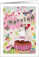 Just Married - Wedding cake card