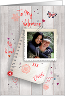 To my Valentine - Photo Card