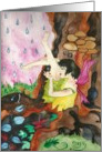 Mabon Blessings - Rainy Day Fairy Card
