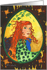 Blank Card - Brigid the Irish goddess of the sun and fire card
