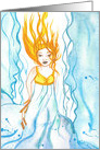 Blank Card - Ilmatar goddess of the air card