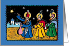 Happy Holidays - the Three Kings and the Star of Bethlehem card