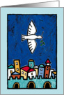 International Day of Peace greeting card - Dove & Olive Branch, card
