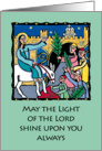 Palm Sunday card - Jesus' triumphal entry into Jerusalem card