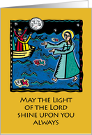 Christmas - May the light of the Lord Shine on You Always card