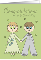 Congratulations Wedding couple on St Patrick's Day card