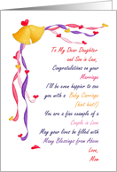 Congratulations on Marriage Daughter/ Son in Law, Poem from Mom card