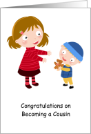 Congratulations on Becoming a Cousin, Cute Illustration card
