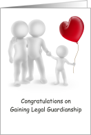 Congratulations, Gaining Legal Guardianship, Couple, Child, Balloon card