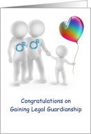 congratulations, gaining legal guardianship, gay, male, couple card