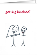 stick people marriage, sarcastic congratulations wedding card