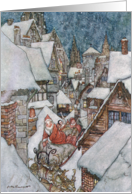 Christmas illustrations, from 'The Night Before Christmas' by Clement C. Moore, 1931 by Arthur Rackham Fine Art Christmas Happy Holidays card