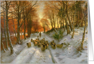 Glowed with Tints of Evening Hours by Joseph Farquharson Fine Art Christmas Happy Holidays card