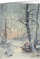 Winter Breakfast by Joseph Farquharson Fine Art Christmas Happy Holidays card