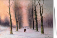 Snow Scene-Wanstead Park by Nils-Hans Christiansen Fine Art Christmas Happy Holidays card