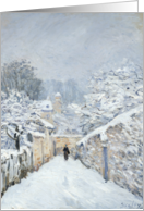 Snow at Louveciennes, 1878 (oil on canvas) by Alfred Sisley Fine Art Christmas Happy Holidays card