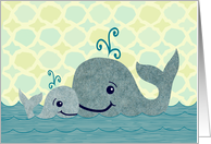 Whale Dad and Baby Father's Day Card