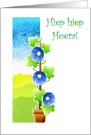 Dutch Happy birthday with floral climber card