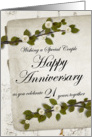 Wishing a Special Couple Happy Anniversary 21 Years together card