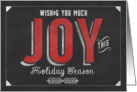Wishing you Much Joy this Holiday Season card
