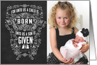 For unto us a Child is Born Photo Card