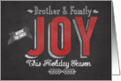 Wishing you Much Joy this Holiday Season Brother & Family card