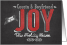 Wishing you Much Joy this Holiday Season Cousin & Boyfriend card