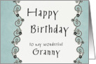 Happy Birthday to my wonderful Granny card